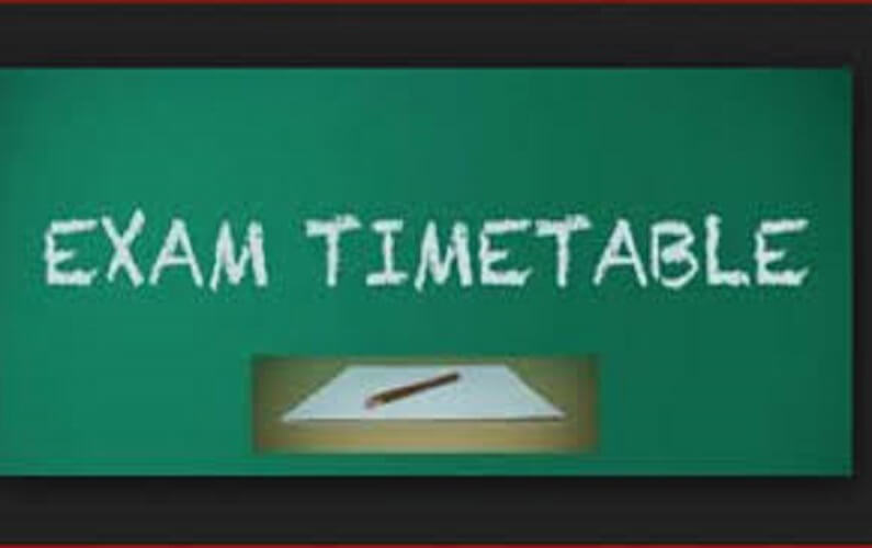 examination timetable Examination Timetable examtime Notice to students on Teaching Practice / Work Related Learning Notice to students on Teaching Practice / Work Related Learning examtime