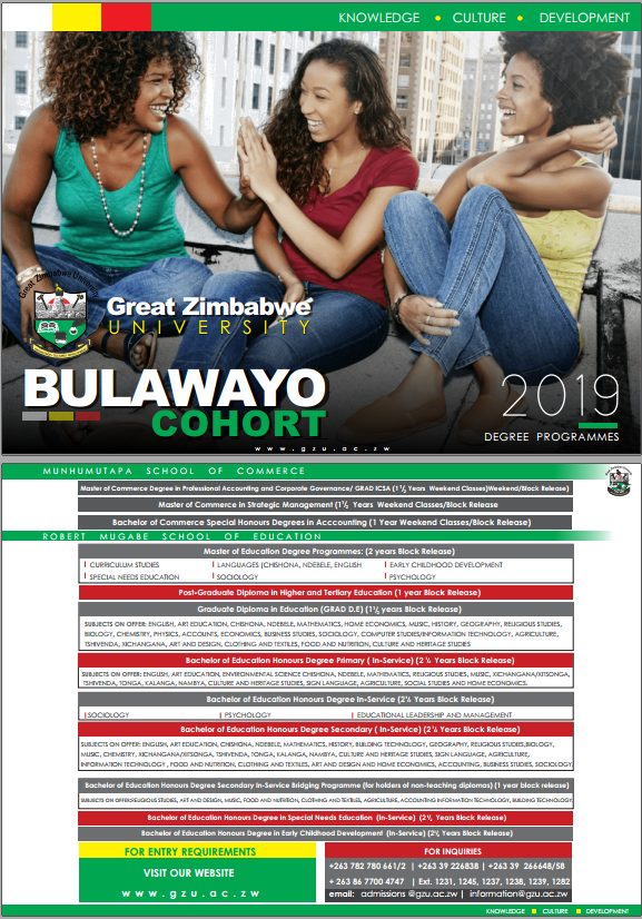 undergraduate Great Zimbabwe University Homepage bulawayo
