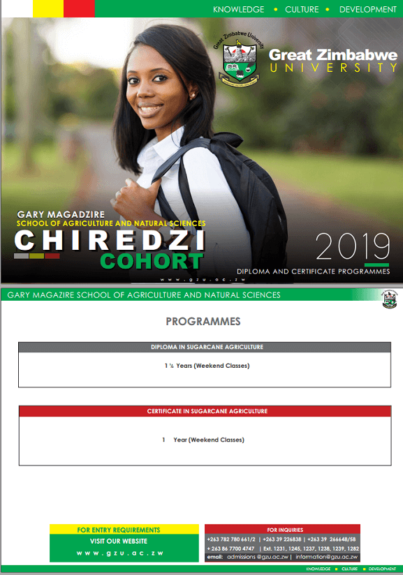 undergraduate Great Zimbabwe University Homepage chiredzi