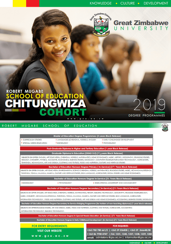undergraduate Great Zimbabwe University Homepage chitungwiza