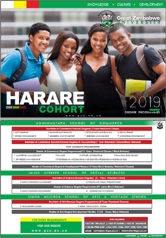 undergraduate Great Zimbabwe University Homepage harare